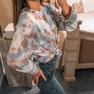 Urban Outfitters Tops - UO • Purple & Blue Tie Dye Long Sleeve Tee Shirt
